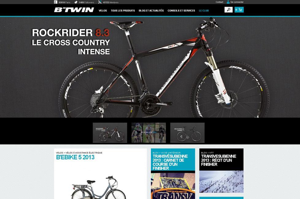 screenshot e-shop BTWIN e-shop na systému PrestaShop