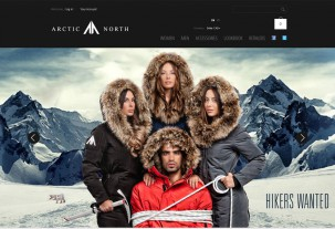 screenshot e-shop Artic North e-shop na systému PrestaShop