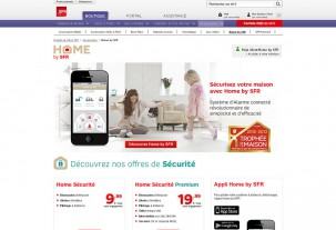 screenshot e-shop Home by SFR e-shop na systému PrestaShop