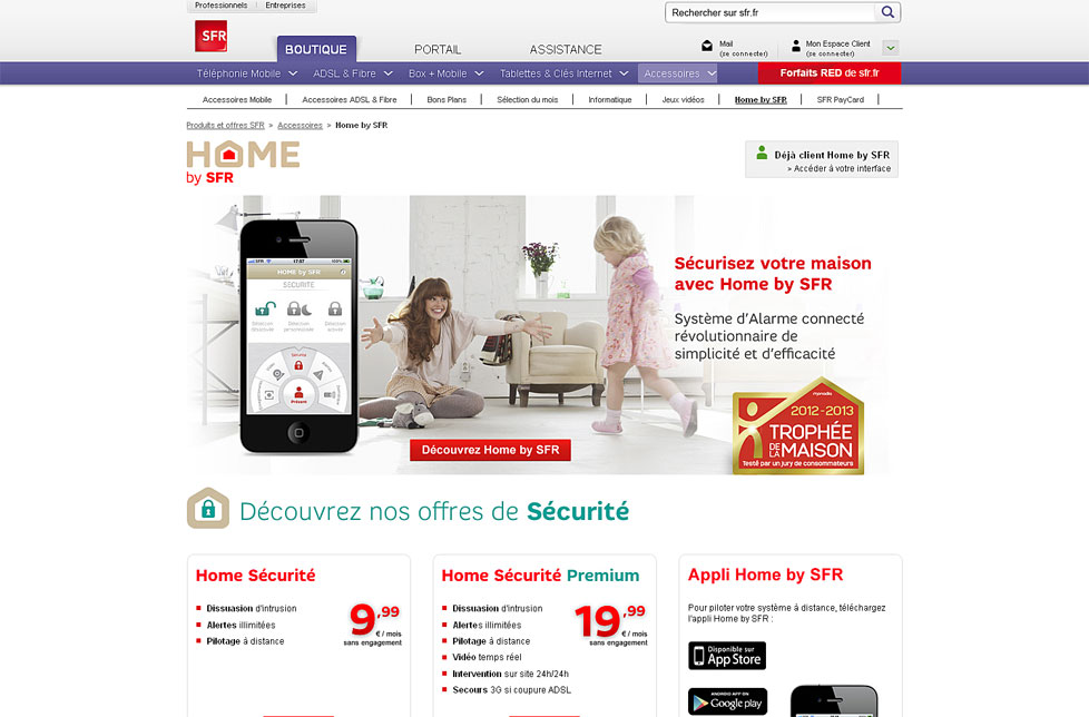 screenshot e-shop Home by SFR e-shop na systému PrestaShop