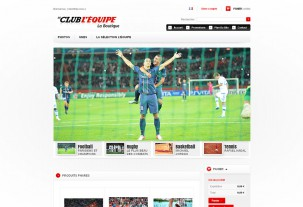 screenshot e-shop Le club L'Equipe e-shop na systému PrestaShop