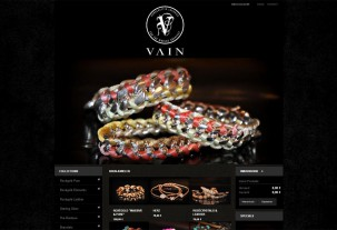 screenshot e-shop Vain Luxuries e-shop na systému PrestaShop